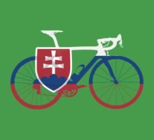 Bike Flag Slovakia (Big) Kids Tee