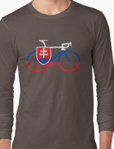 Bike Flag Slovakia (Big) Long Sleeve T-Shirt