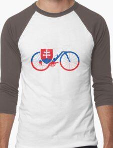Bike Flag Slovakia (Big) Men's Baseball ¾ T-Shirt