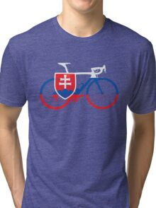 Bike Flag Slovakia (Big) Tri-blend T-Shirt
