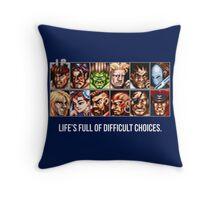 Difficult Choices Throw Pillow