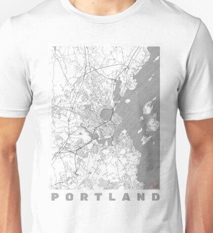 Portland Maine Map Line Unisex T-Shirt
