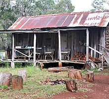 Rustic Shack - Nundle NSW Australia by Bev Woodman