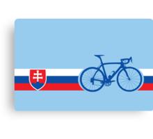 Bike Stripes Slovakia Canvas Print