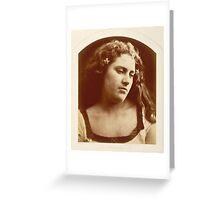"""A Bacchante"" by Julia Margaret Cameron (1815-1879) Greeting Card"