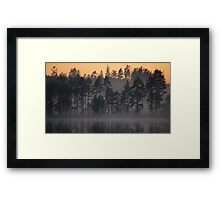 Night Mist on a Finnish Lake Framed Print