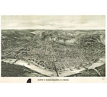 Vintage Pictorial Map of Cincinnati (1900) Photographic Print