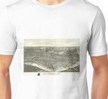 Vintage Pictorial Map of Cincinnati (1900) Unisex T-Shirt