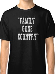 Family Guns Country (for Dark Colored Products) Classic T-Shirt