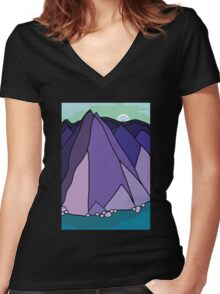 purple hills Women's Fitted V-Neck T-Shirt