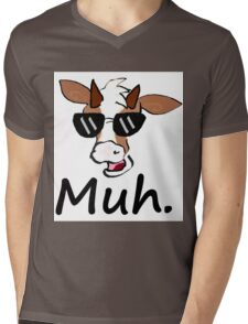 """Muh"" - Cool Cow Mens V-Neck T-Shirt"
