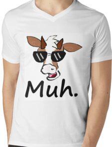 """Muh"" - Cool Cow Mens V-Neck T-Shirt"