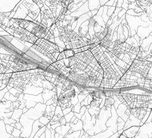 Florence Map Line Sticker