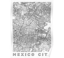 Mexico City Map Line Poster