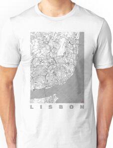 Lisbon Map Line Unisex T-Shirt