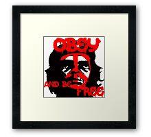Che Guevara, Be Free. Framed Print