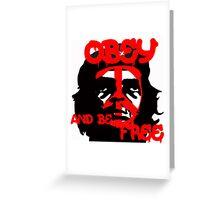 Che Guevara, Be Free. Greeting Card
