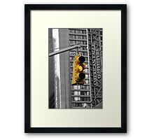 """Caution"" Framed Print"