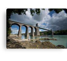 Menai Bridge, Anglesey Canvas Print