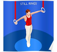 Gymnastics Still Rings  Poster