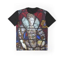 Queen Elizabeth I Stained Glass  Graphic T-Shirt
