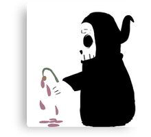 Boo and his flower Canvas Print