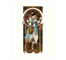 Strongest Woman in the World  (Art Nouveau China) Art Print