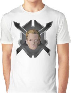 Legendary Halo Barney Head Graphic T-Shirt