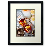 Christmas background with mulled wine Framed Print
