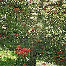 Roses By Tree by ArtOfE