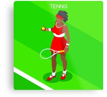 Tennis Player Vector Isometric Metal Print
