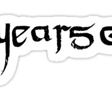 Ten Years Gone Sticker