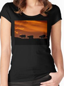 Sunrise Cows - New Zealand Women's Fitted Scoop T-Shirt