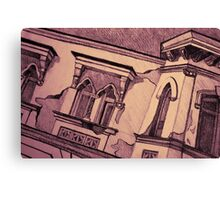 Drawing of an old Venetian Palace Canvas Print