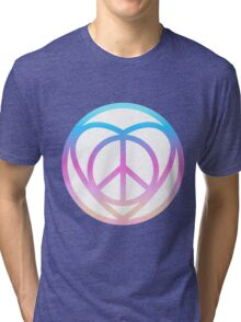 NEW HIPPIE LOVE SIGN (colorful) Tri-blend T-Shirt