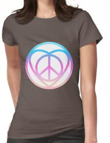 NEW HIPPIE LOVE SIGN (colorful) Womens Fitted T-Shirt