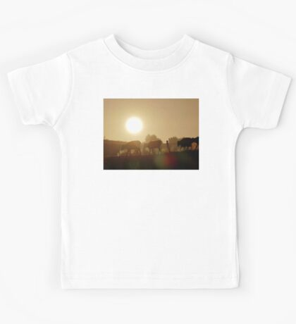 Misty Sunrise Cows - NZ Kids Tee