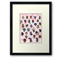 Floating heads of Colored girls  Framed Print
