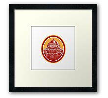 Dome of Florence Cathedral Front Woodcut Framed Print