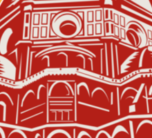 Dome of Florence Cathedral Front Woodcut Sticker