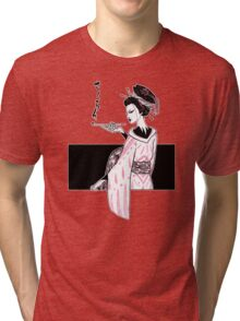 Oiran (White Version) Tri-blend T-Shirt