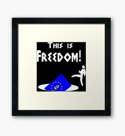 This is freedom Parody Framed Print