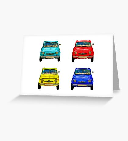 Vintage compact cars #2 Greeting Card