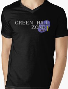 Green Hill Zone Mens V-Neck T-Shirt