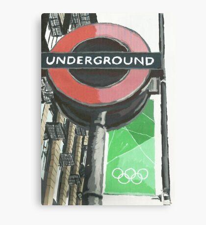 London Underground Tube Stop Canvas Print