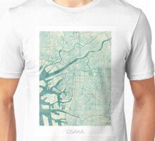 Osaka Map Blue Vintage Unisex T-Shirt