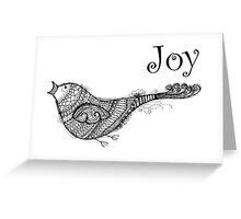 Christmas Joy Bird - Kerry Beazley Kaboom Art Greeting Card