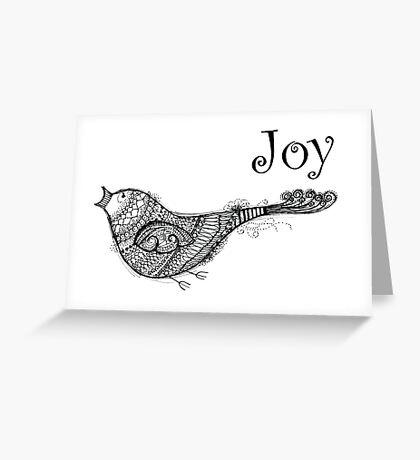 Christmas Joy Bird - Kerry Beazley Greeting Card