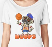 HOOPS! THE SIN CITY PUGS BASKETBALL CLUB. Women's Relaxed Fit T-Shirt