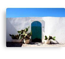 Blue Sky Summer Cacti  Canvas Print